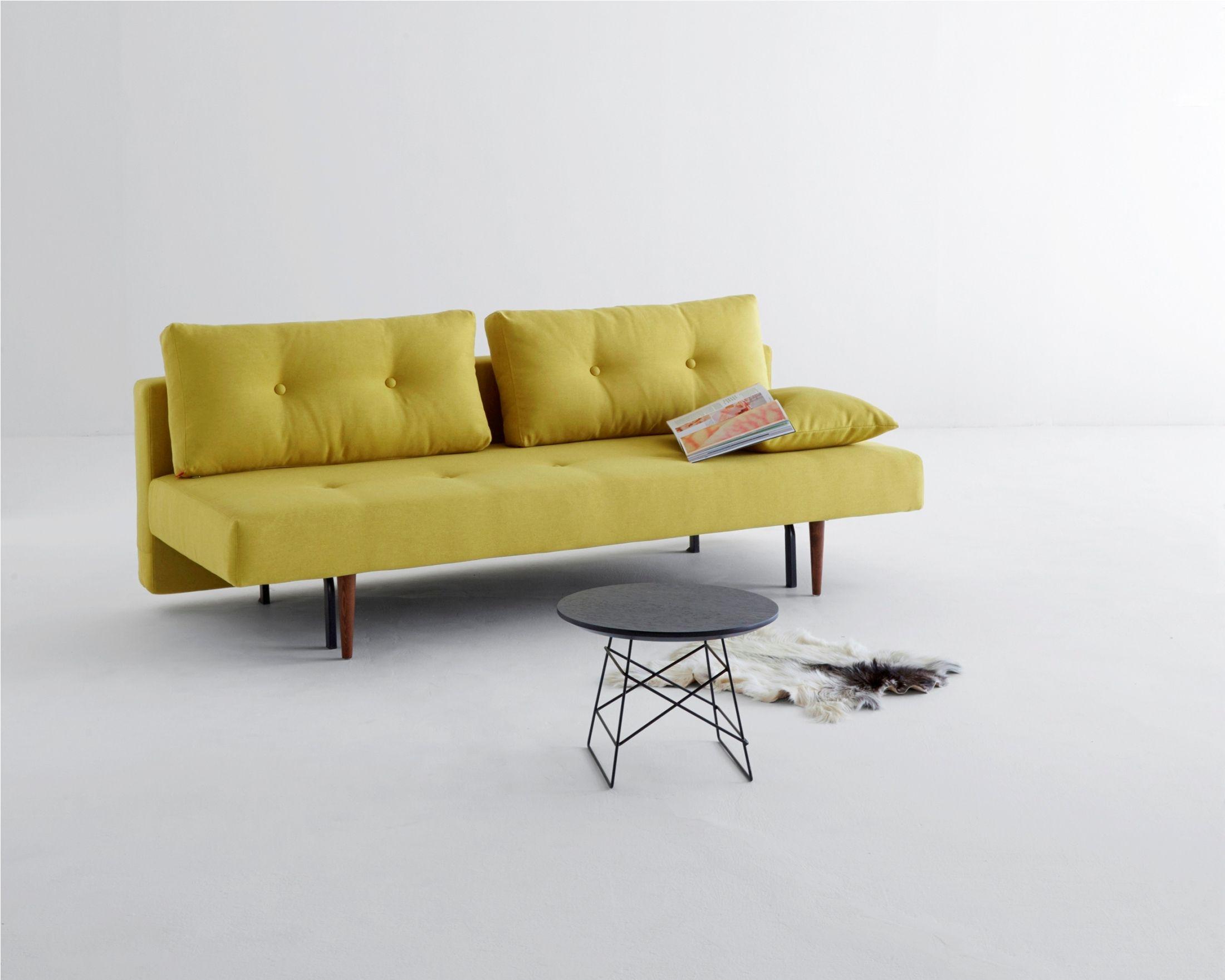 Recast Sofa Bed In Soft Mustard By Innovation