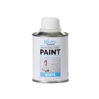 25 Sq Ft White Gloss Whiteboard Paint Kit 30252 Pk The Home Depot Whiteboard Paint Paint Kit Black Chalkboard Paint