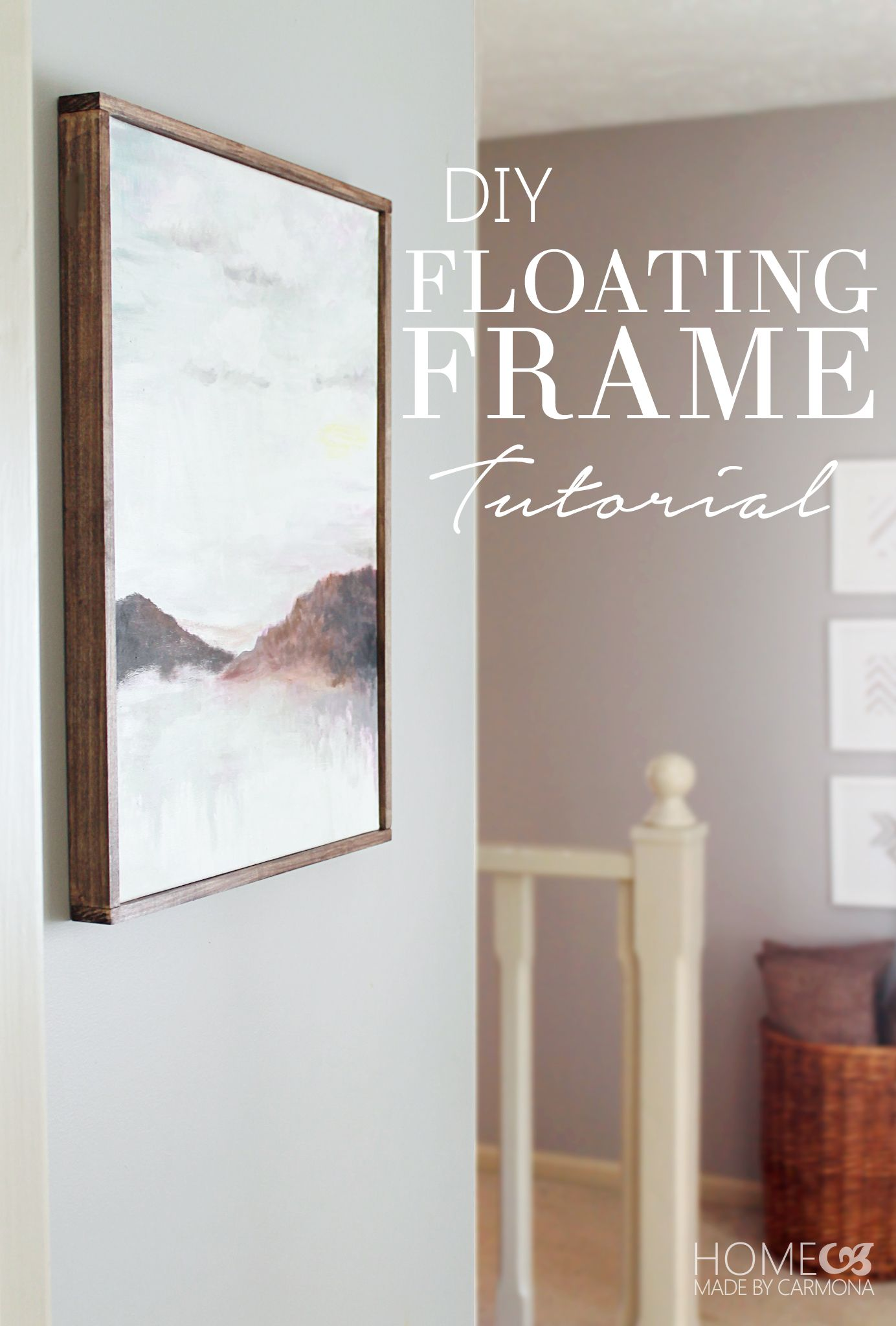 Diy floating frame tutorial floating frame tutorials and funky junk