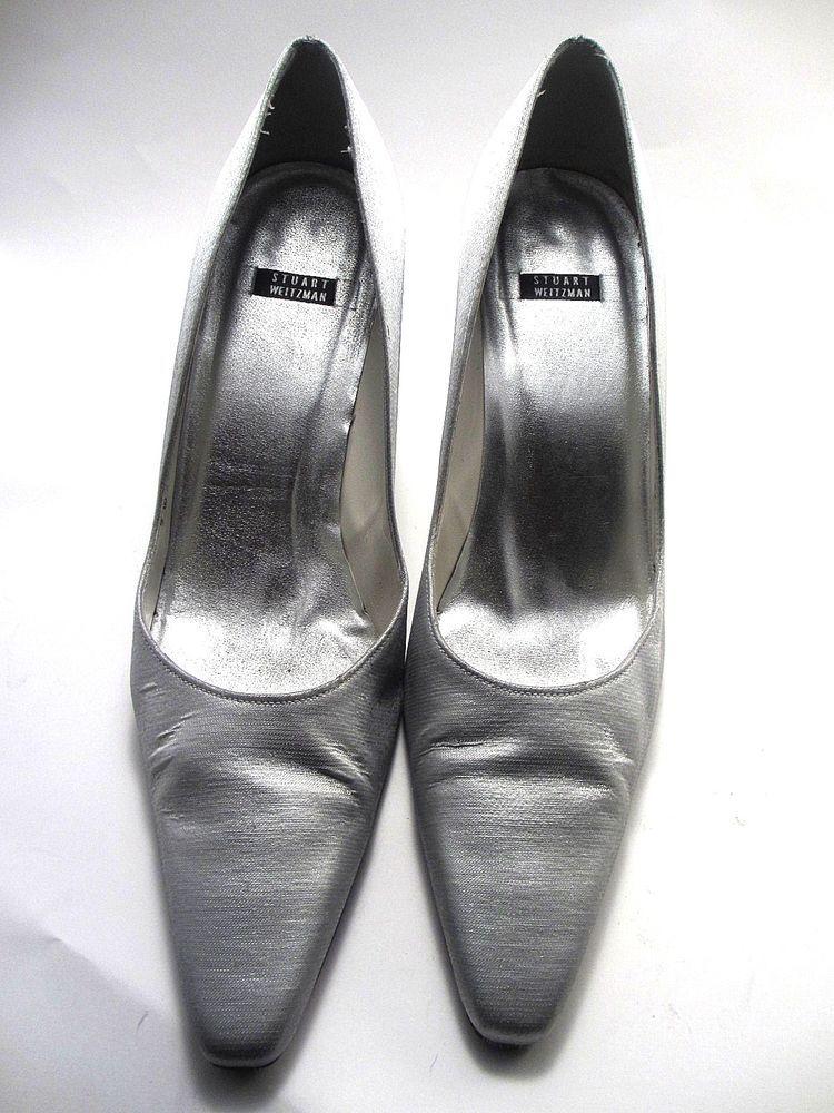 Stuart Weitzman Silver High Heels Size 10 B M