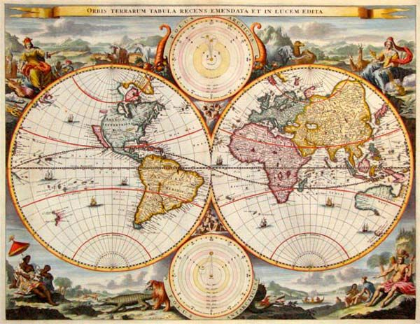Free Vintage Image Download ~ Old Maps - to use in pages showing - new world time map screensaver free download
