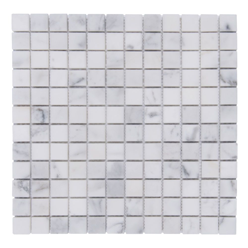Bianco Carrara Carrera 1 Square Mosaic Shower Floor Tile Backsplash Tile Sale White Marble Mosaic Marble Mosaic Tiles Marble Mosaic