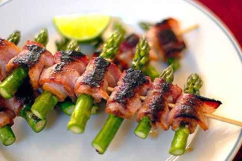 Bacon wrapped asparagus. Everything's better with bacon.
