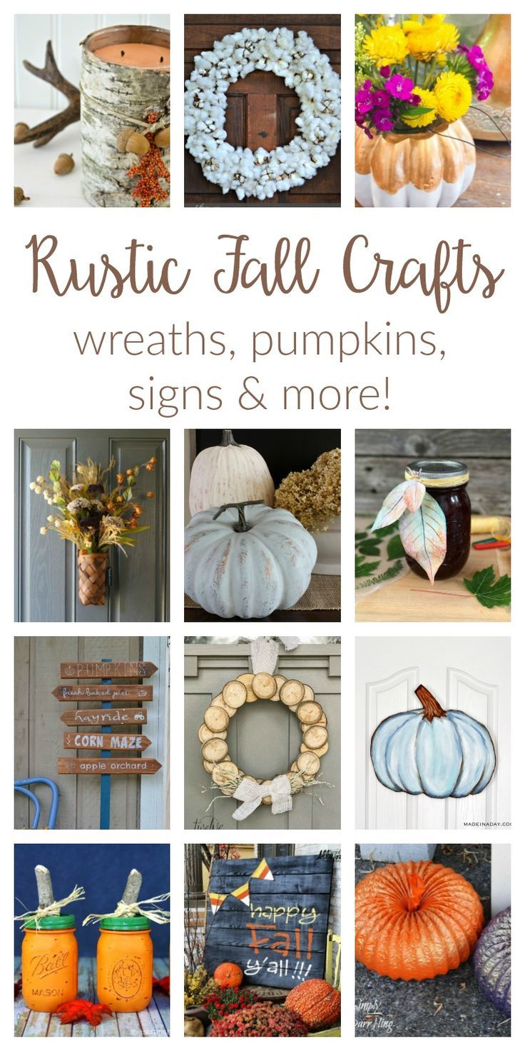 Fall Crafts Ideas - Merry Monday #170 | DIY ideas, Wreaths and Craft