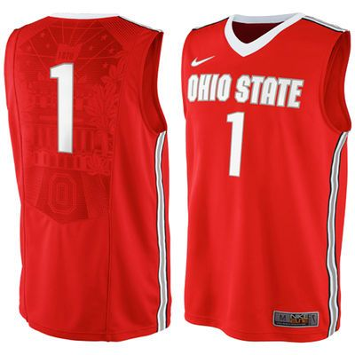 833e25c6b 1 Ohio State Buckeyes Nike Authentic Basketball Jersey - Red