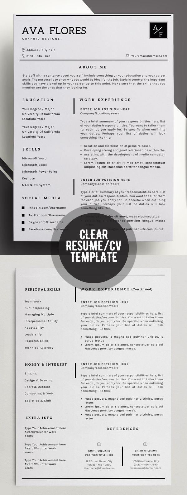 13 templates de CV para creativos 13