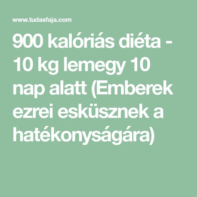 900 kalóriás diéta - 10 kg lemegy 10 nap alatt (Emberek..