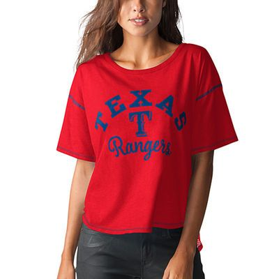 Texas Rangers Touch by Alyssa Milano Women's Second Base Reversible T-Shirt - Red