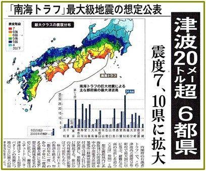 予想 南海 トラフ 地震 南海トラフ地震の「現実的シナリオ」、巨大地震のあと誘発地震が数年後まで多発