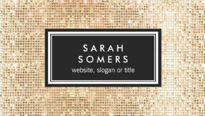 Trendy gold faux sequin personal profile visiting card business trendy gold faux sequin personal profile visiting card business cards http colourmoves