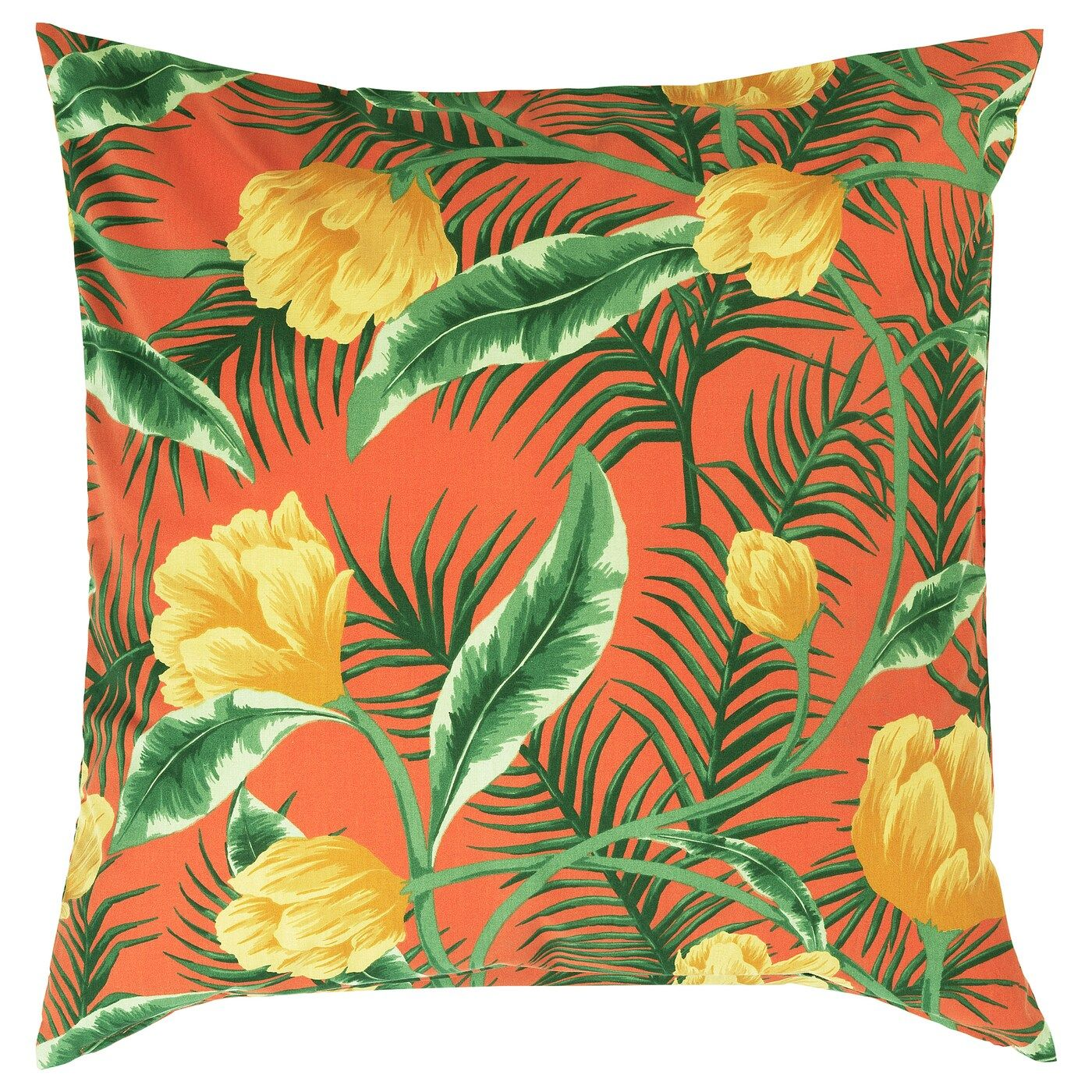 Solblekt Kissenbezug Drinnen Draußen Blumenmuster Orange Kissenbezug Ikea Kissenbezug Blumenmuster