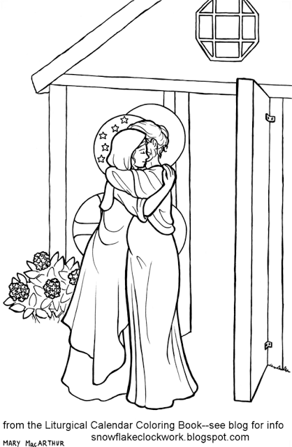 Visitation Coloring Page Coloring Pages Flag Coloring Pages People Coloring Pages