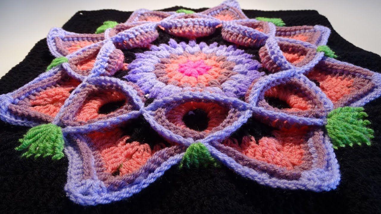 Crochet Flower 3D Granny Square 2 | Crochet Flower 3D Granny Square ...