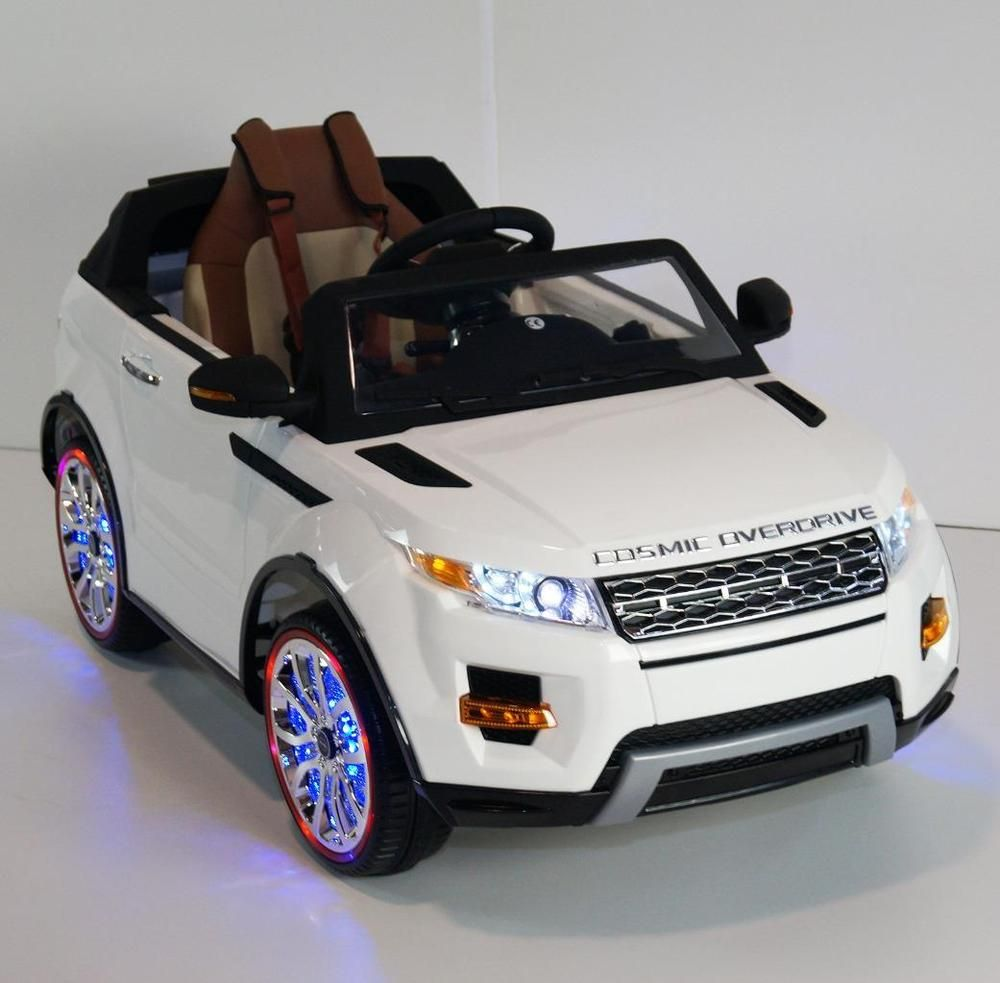 luxury range rover style 12v kids ride on car leather seat led wheels rc