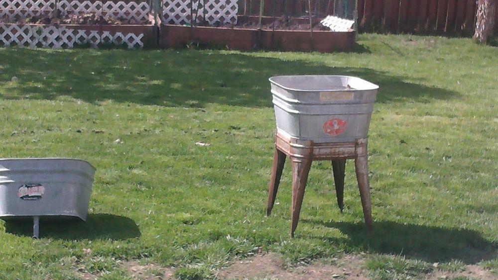 Vintage Wheeling Wash Tub Extra Tub Stand Galvanized Party Tub Cooler Planter Party Tub Wash Tubs Galvanized