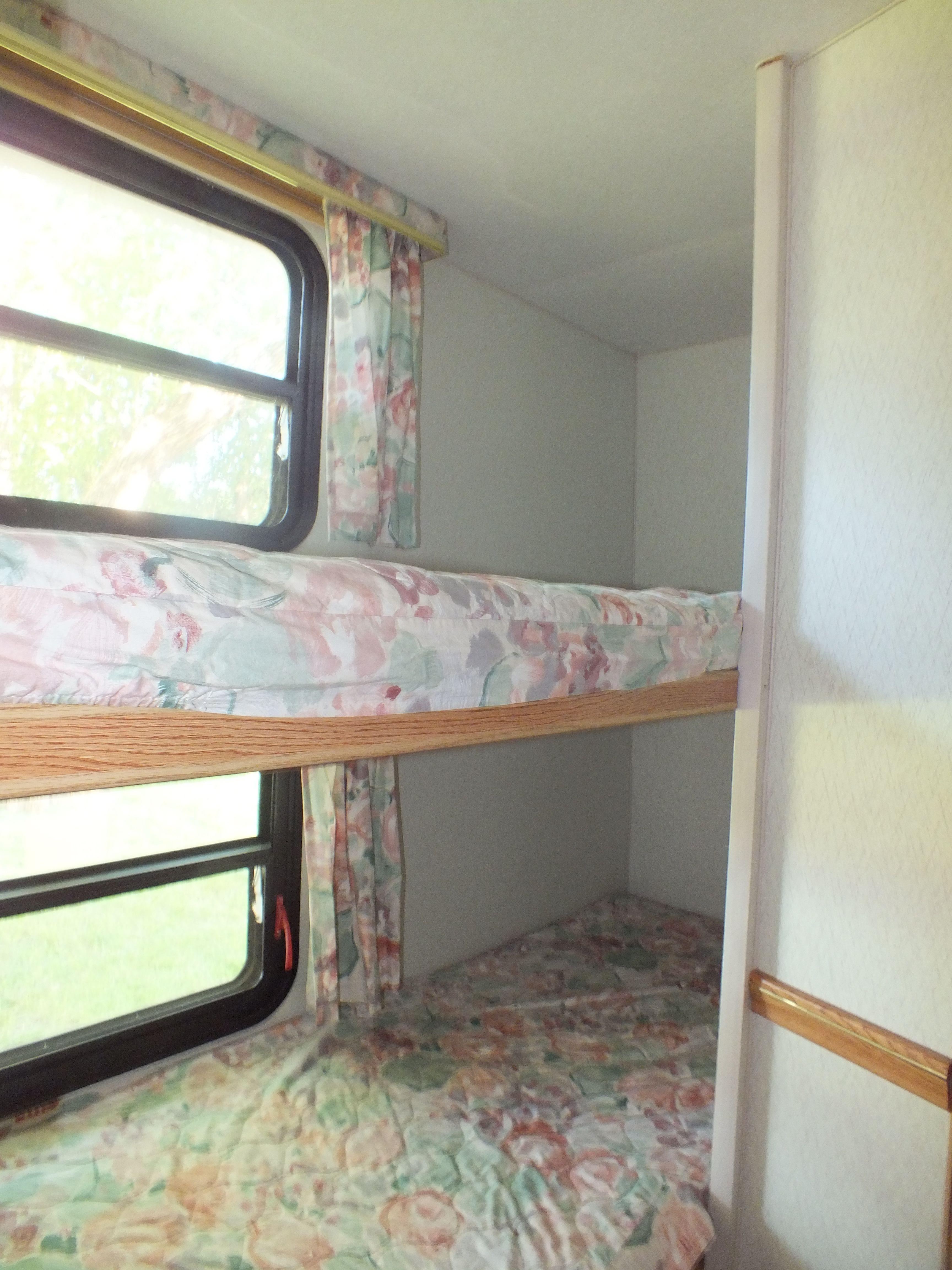 Caravan Interior With Images Camper Bunk Beds Camper Beds