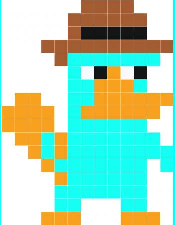 Perry Minecraft Dessin Pixel Pixel Et Pixel Art Personnage