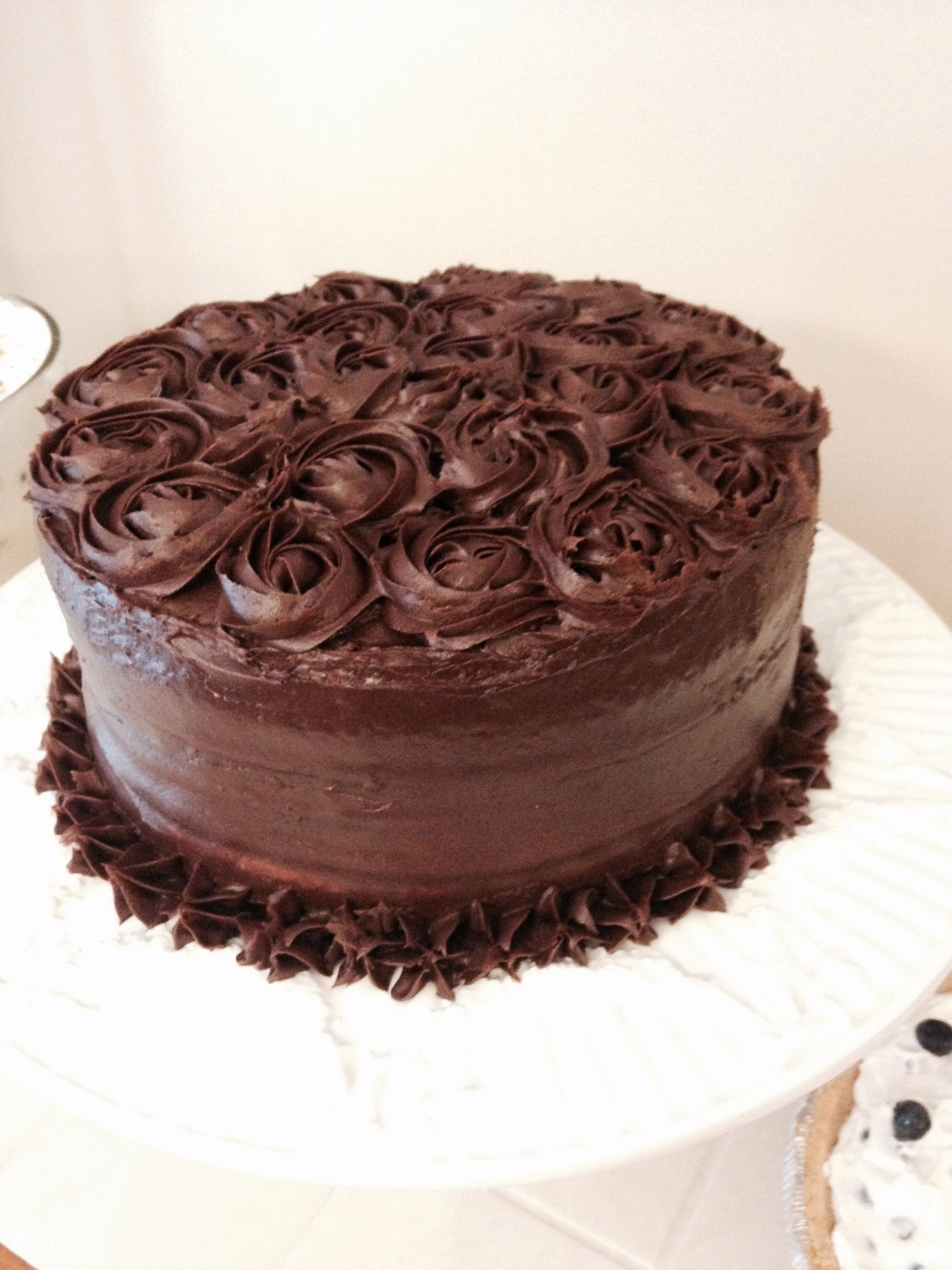Chocolate On Rosette Cake Frosting Decoration Chocochips Sully Dress White Let Them Eat Icing