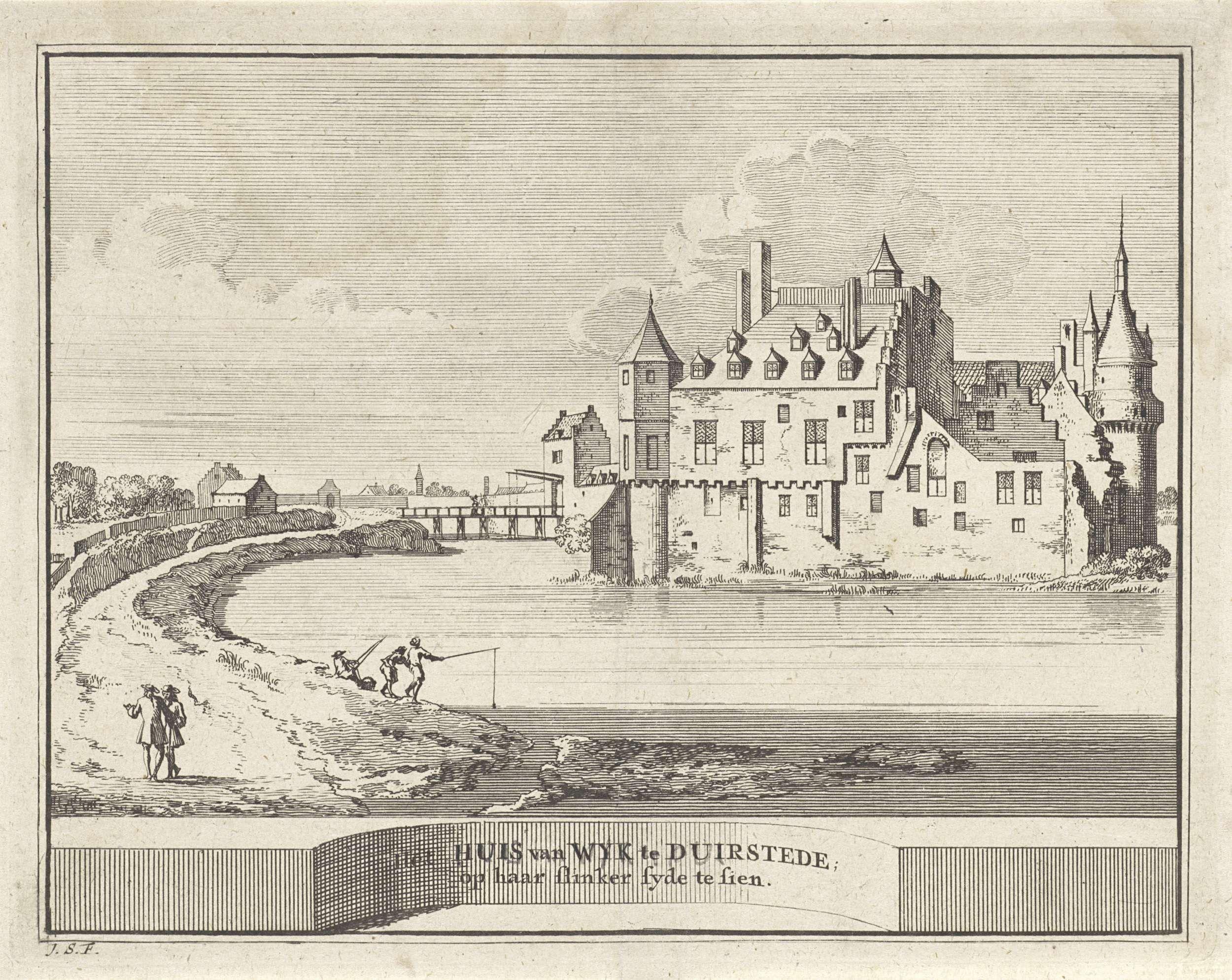 Jacobus Schijnvoet | Gezicht op kasteel Duurstede te Wijk bij Duurstede, Jacobus Schijnvoet, Roelant Roghman, Pieter de Coup, 1711 - 1774 |