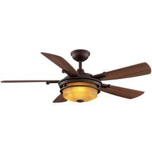 Hampton Bay Garibaldi 52 in. Indoor Bronze Ceiling Fan-39110 at The Home Depot