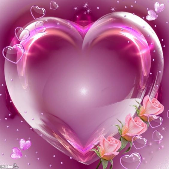 A Beautiful Heart Frame With Pink Roses On The Side Of It Heart Wallpaper Heart Frame Colorful Heart Beautiful heart love wallpaper