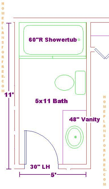 Bathroom floor plans 5 x 10 5 x 10 bathroom floor plans for Bathroom designs 10 x 6