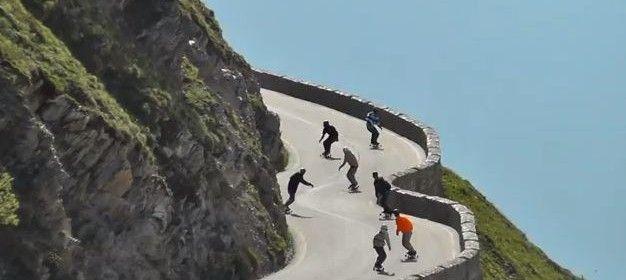 Freebording Stelvio Pass
