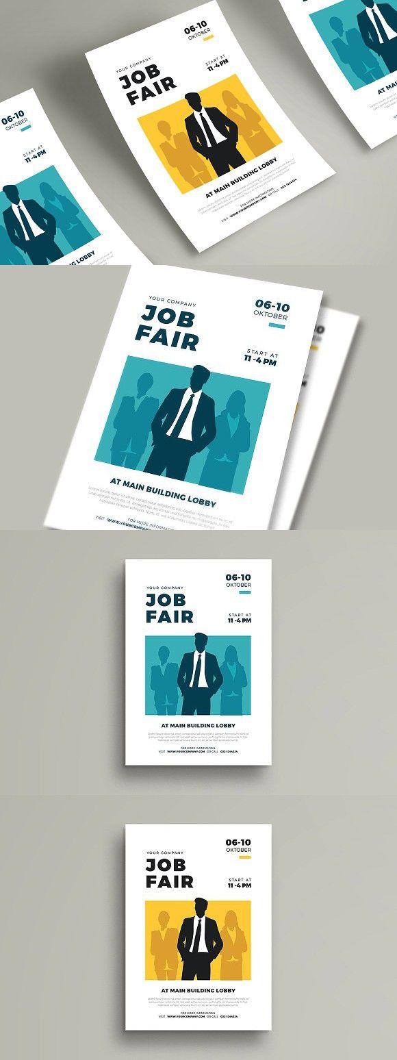 job fair flyer template  flyer template job fair