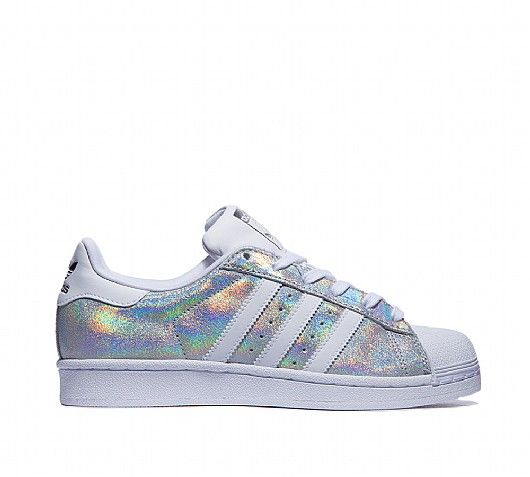 adidas Originals Womens Superstar Iridescent Trainer | White / Silver |  Footasylum