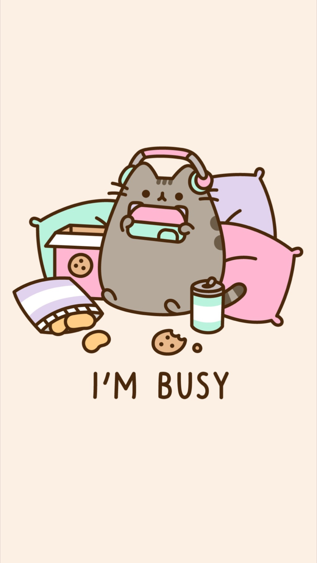 Don't bother me, I'm busy. Lol. Pusheen is so
