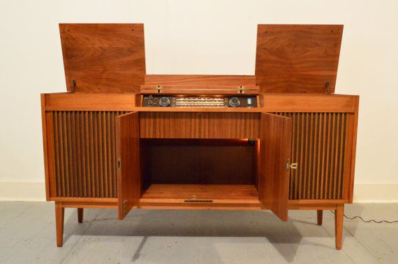 Telefunken Radio Console With Reel To And By
