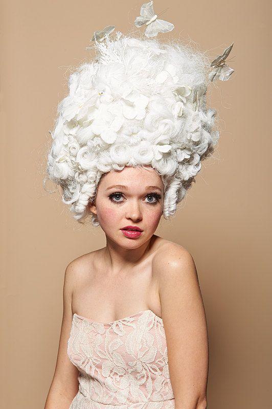 Bouffant en Blanc Art Wig by SweetHayseed on Etsy