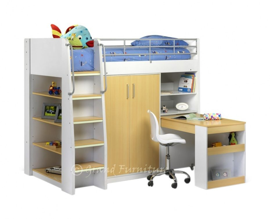 Childrens Furniture Bunk Bed Wardrobe Frame With Pull Out