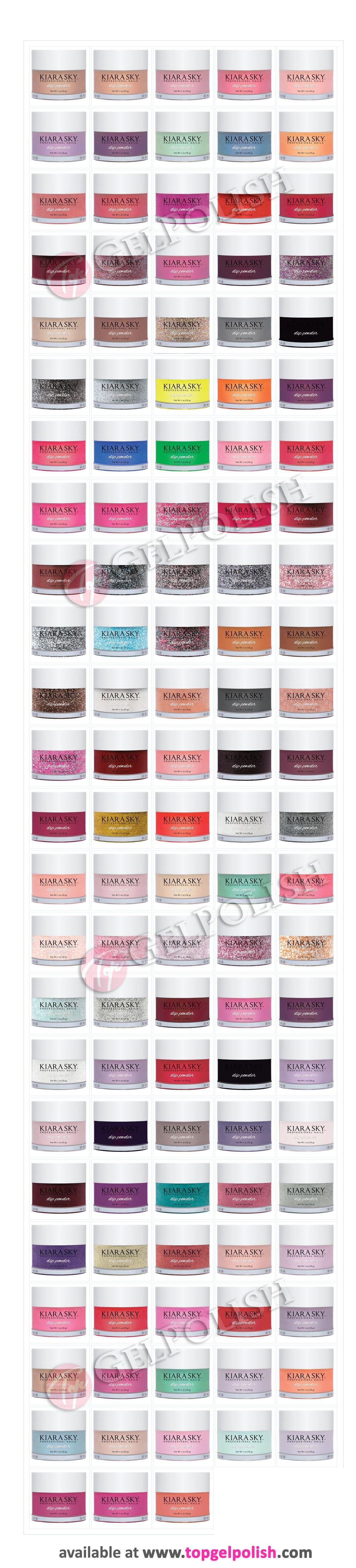 Anc Nail Powder Color Chart Anc Nail Color Chart