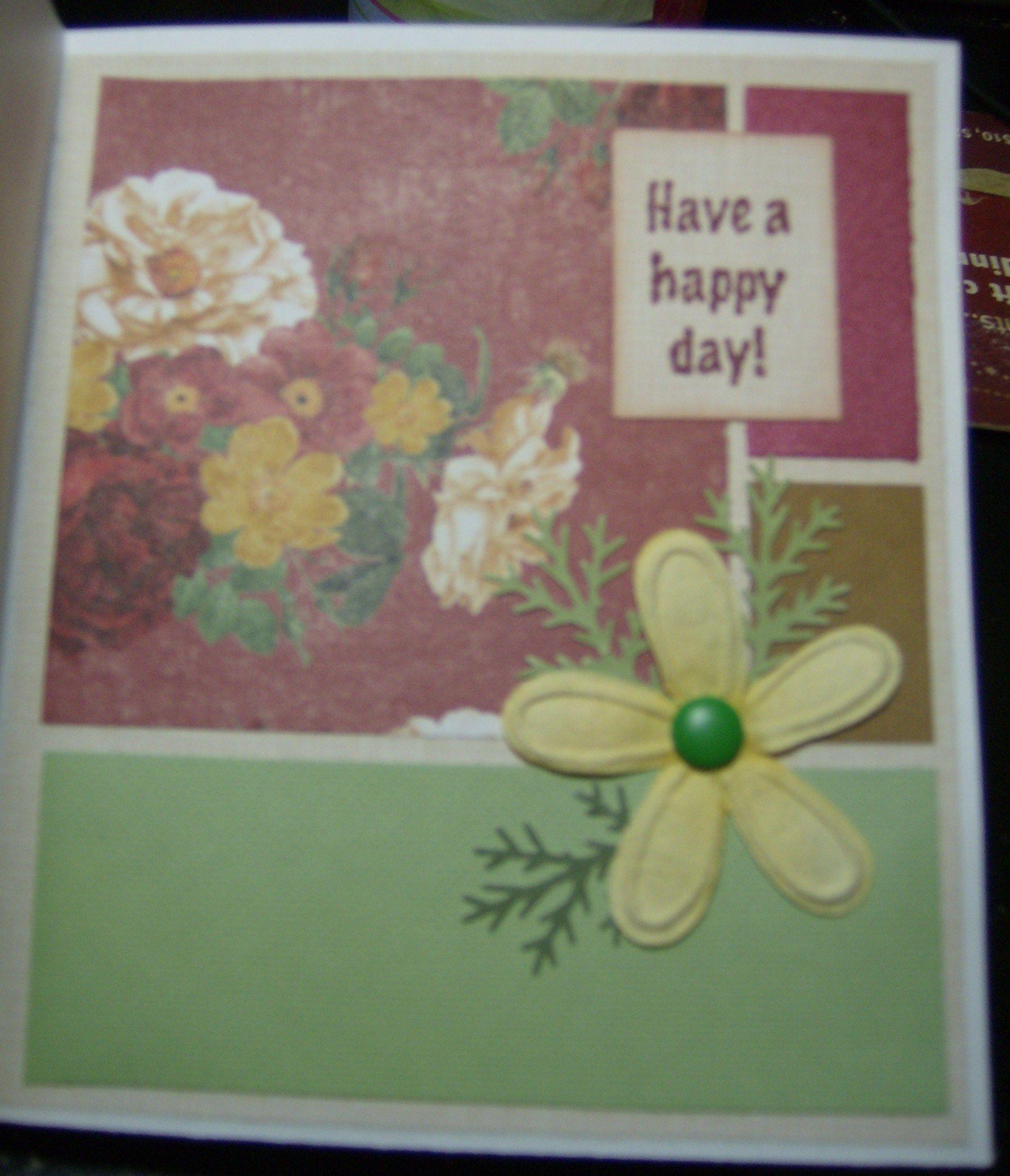Birthday card handmade inside greeting cards pinterest