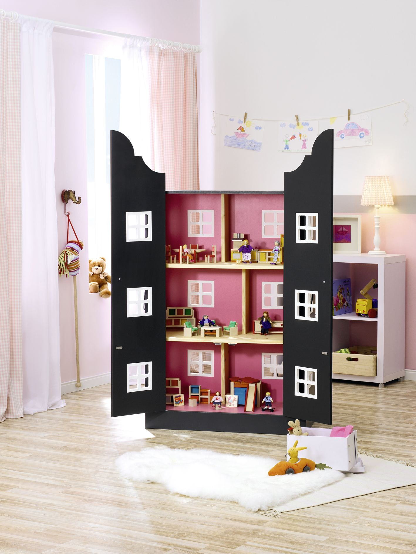 puppenhaus raumwunder hier geht 39 s zur anleitung kinderzimmer pinterest anleitungen. Black Bedroom Furniture Sets. Home Design Ideas