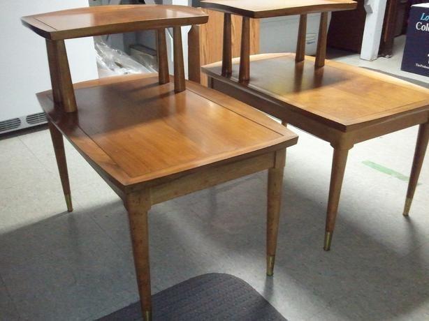 Deilcraft Danish Modern 2 Tier End Tables