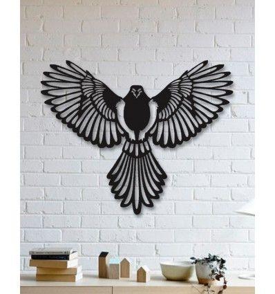 Unique Custom Designed Wall Decoration Product Eagle Metal Wall Art Seni Kertas Seni Burung