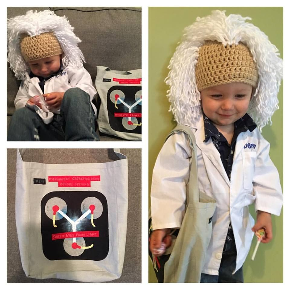 6d74a7bc3 Back to the Future Doc Brown child's costume. Complete with flux ...