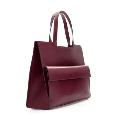 RIGID SHOPPER WITH POCKET - Handbags - Woman | ZARA United Kingdom