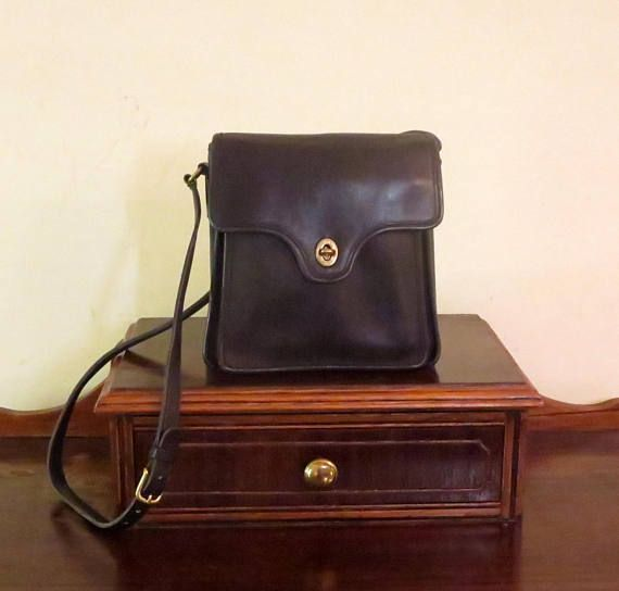 24bdf4fcb95f2 Coach Shelton Bag In Black Leather Style No. 9917- Made In United ...