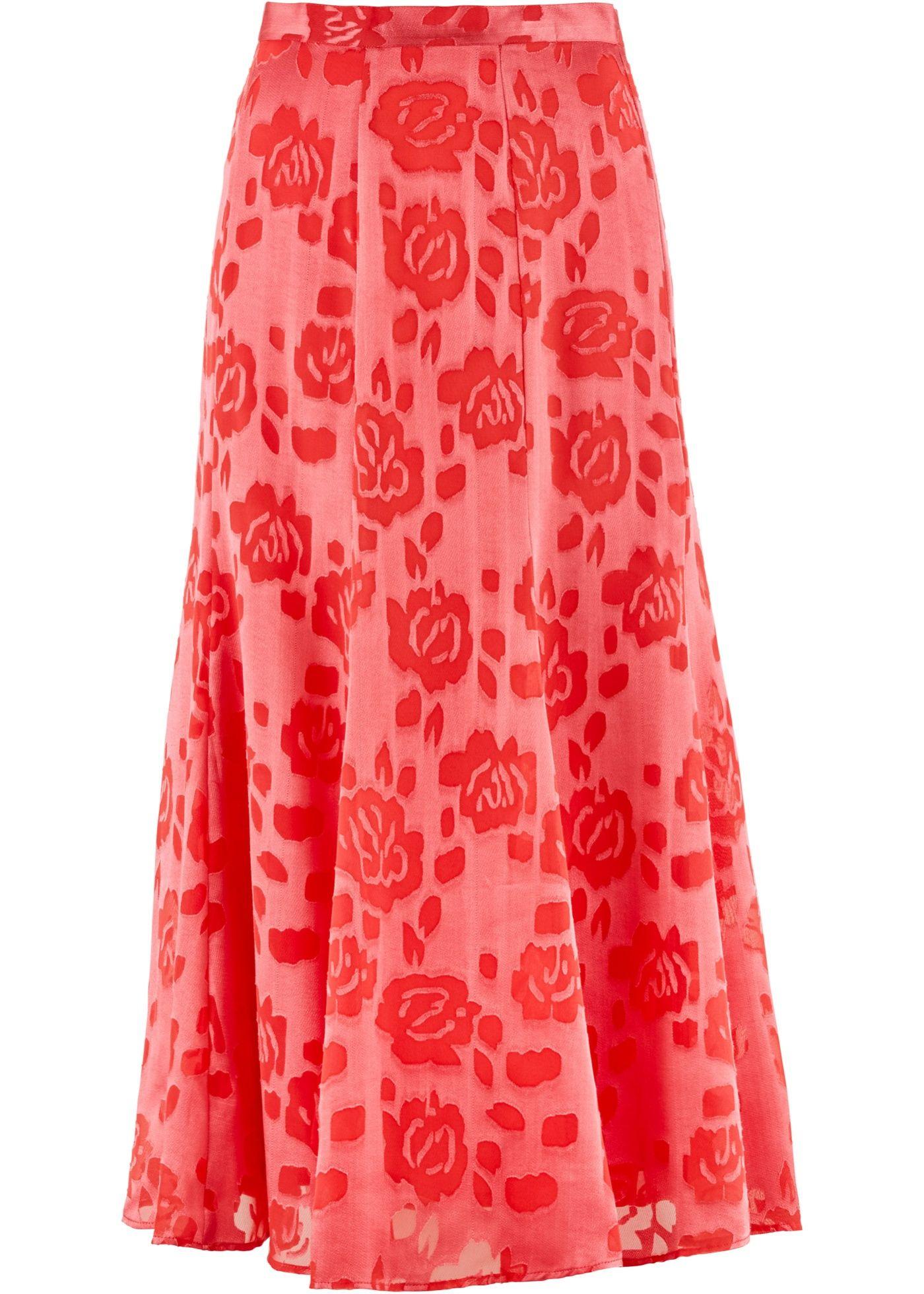Rok kreeftrood - bpc selection premium nu in de onlineshop van bonprix.nl vanaf € 37.99 bestellen. Chique, lange rok uit de Premium-collectie met gebloemd ...