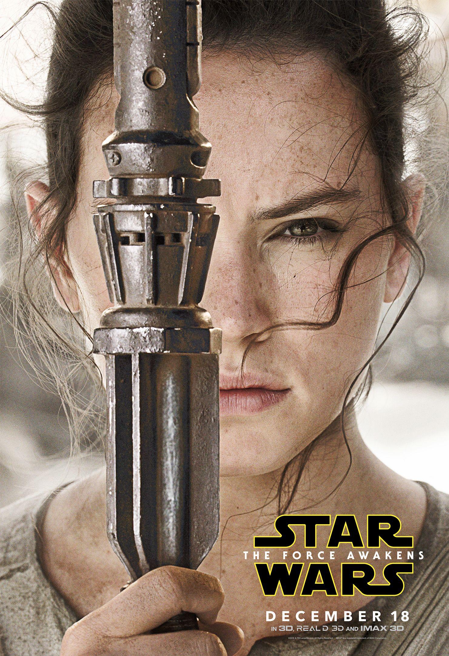 STAR WARS EPISODE VII FORCE AWAKENS REY MOVIE POSTER Licensed Authentic 22x34