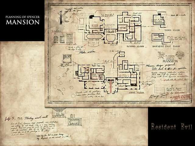 Resident Evil Umbrella Chrnicles Subway Map 3d Model.Spencer Mansion Map What A Mansion Re Fan Stuff 3 Resident