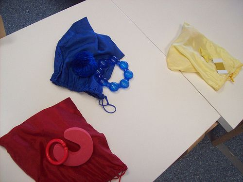 Colour Sorting Bags by thesecretofchildhood, via Flickr