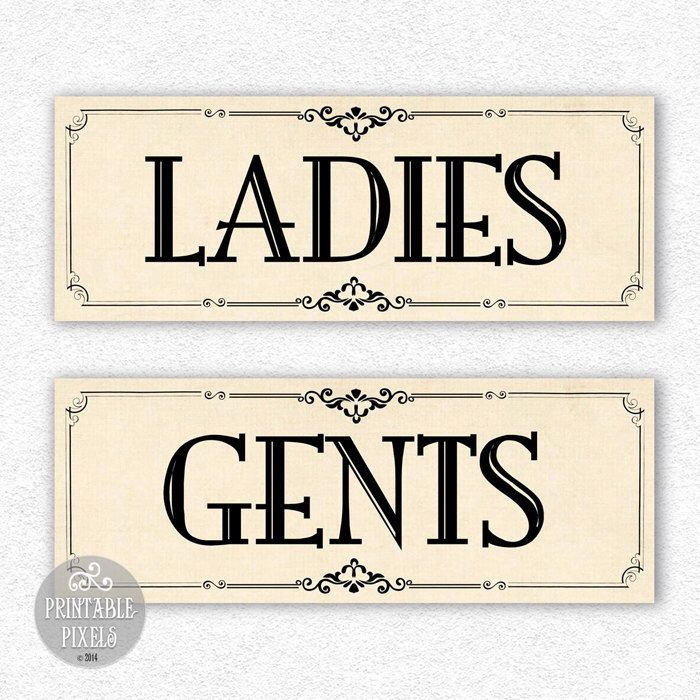 picture regarding Printable Bathroom Signs called Pin by way of Barbara Roush upon marriage Toilet signs or symptoms, Toilet
