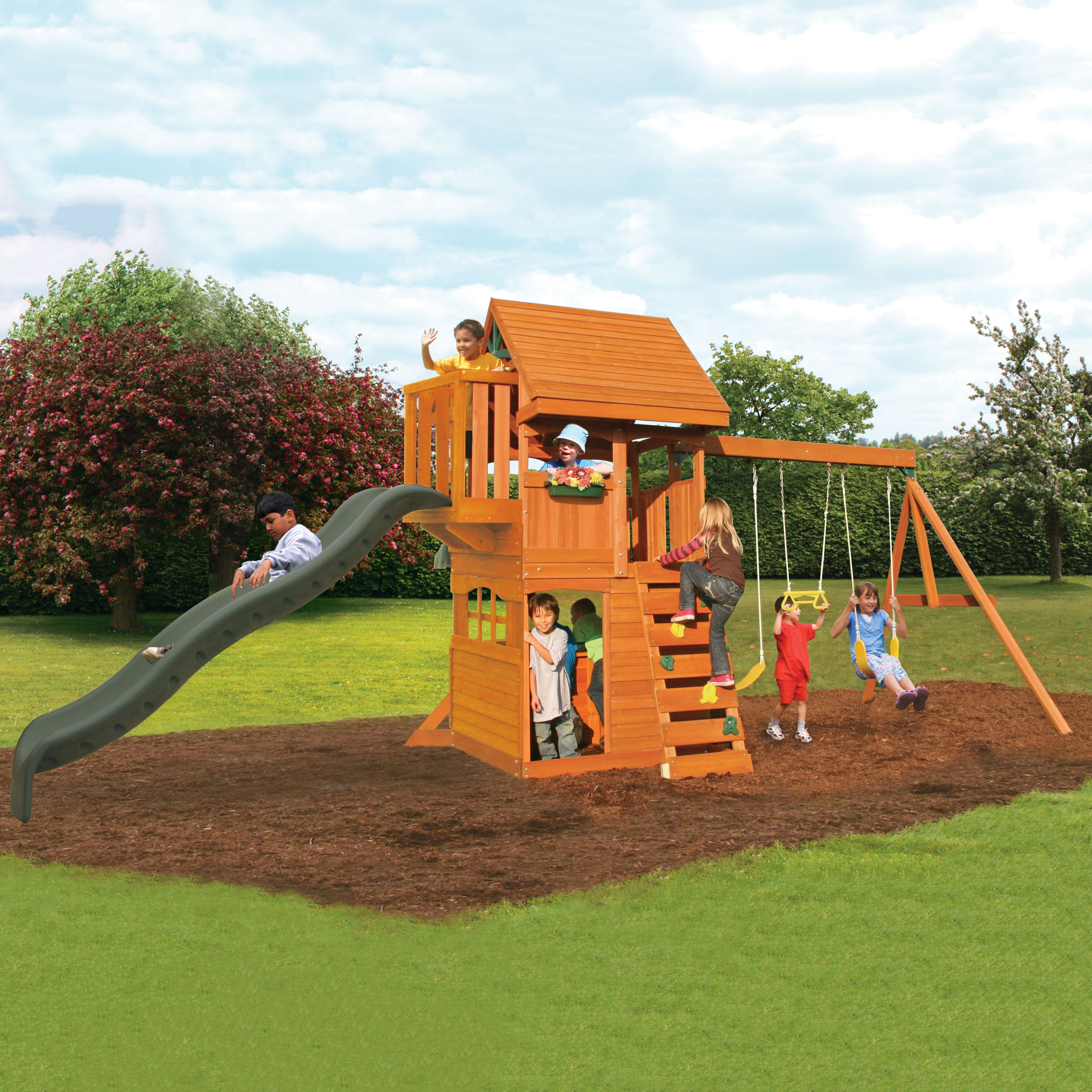 Toys Wooden Playset Wooden Swings Grandview Lodge