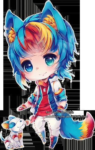 sushirabu by LaDollBlanche Cute anime chibi, Anime