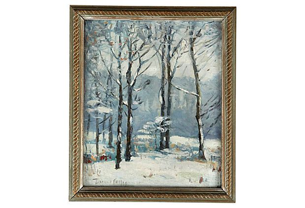 Early-20th-century oil painting by American artist Durand Felter ...