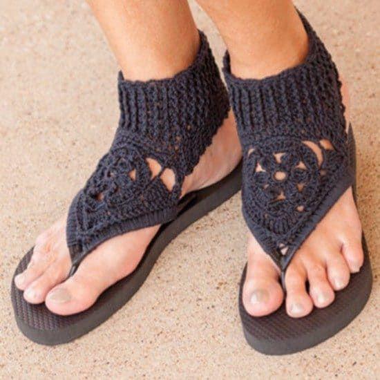 110ba8f1651ef Crochet Gladiator Sandals Patterns Womens Sizes | clothes | Crochet ...
